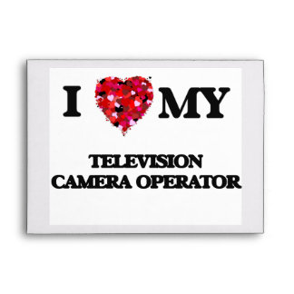 Amo a mi operador de la cámara de televisión sobre