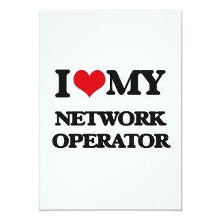 """Amo a mi operador de red invitación 5"""" x 7"""""""