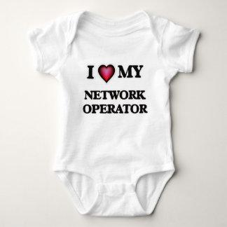 Amo a mi operador de red mameluco de bebé