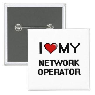Amo a mi operador de red chapa cuadrada 5 cm