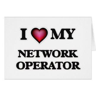 Amo a mi operador de red tarjeta de felicitación