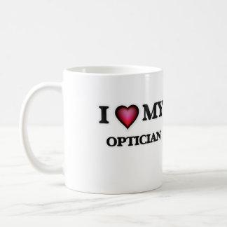 Amo a mi óptico taza de café