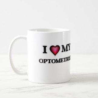 Amo a mi optometrista taza de café
