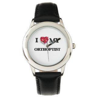 Amo a mi Orthoptist Relojes De Mano