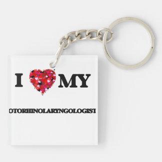 Amo a mi otorrinolaringólogo llavero cuadrado acrílico a doble cara