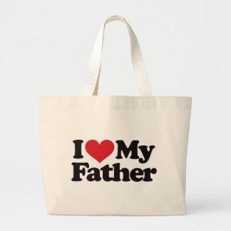 Amo a mi padre bolsa de mano