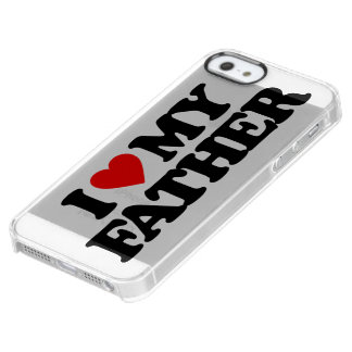 AMO A MI PADRE FUNDA CLEAR PARA iPhone SE/5/5s