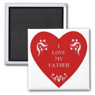 Amo a mi padre imán cuadrado