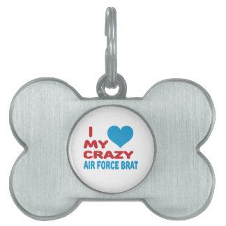Amo a mi palo de golf loco de la fuerza aérea placa mascota