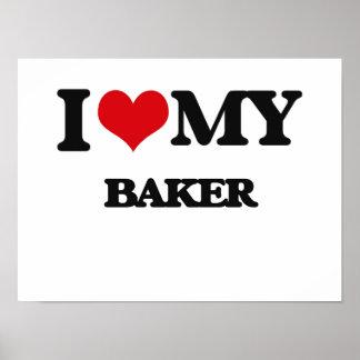 Amo a mi panadero póster