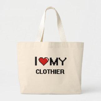 Amo a mi panero bolsa tela grande