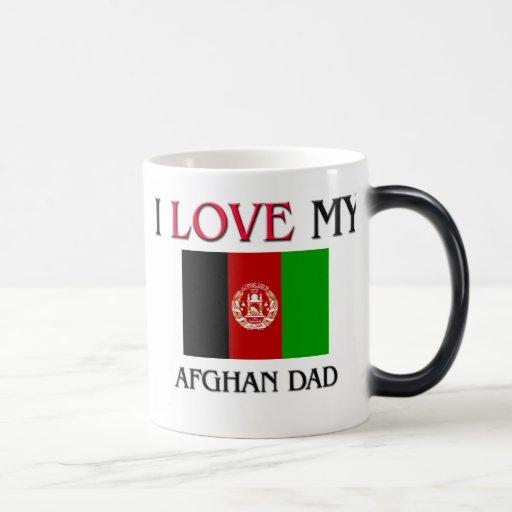 Amo a mi papá afgano taza de café