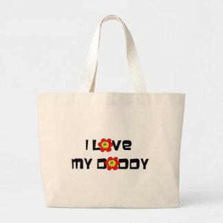Amo a mi papá bolsa tela grande