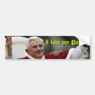 ¡Amo a mi papá Etiqueta De Parachoque