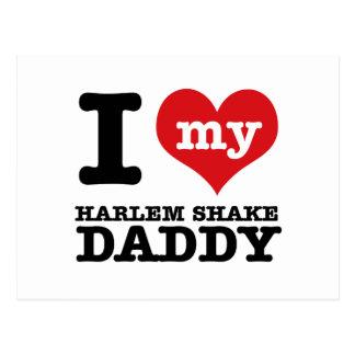 Amo a mi papá de la SACUDIDA de HARLEM Tarjetas Postales