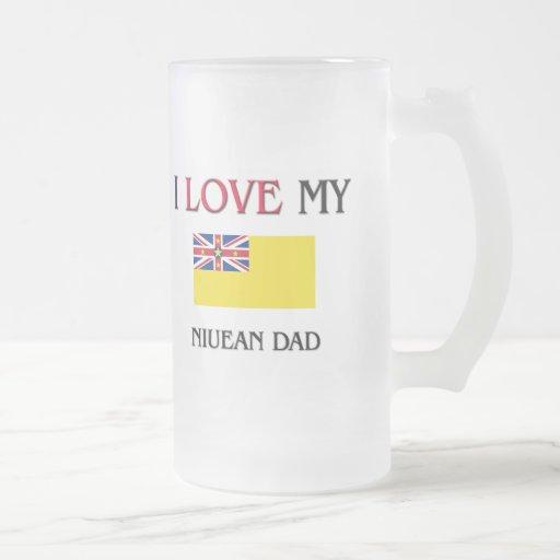 Amo a mi papá de Niue Taza Cristal Mate