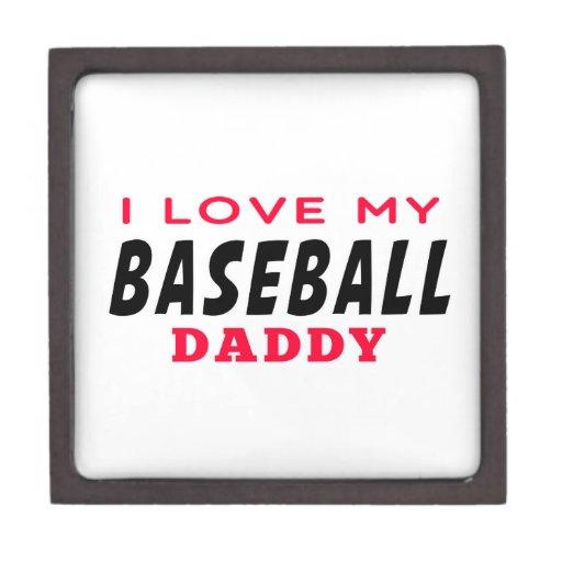 Amo a mi papá del béisbol cajas de joyas de calidad