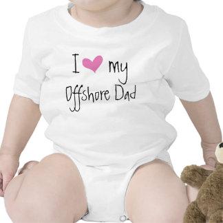Amo a mi papá del campo petrolífero traje de bebé