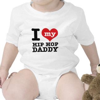 Amo a mi papá del hip-hop traje de bebé