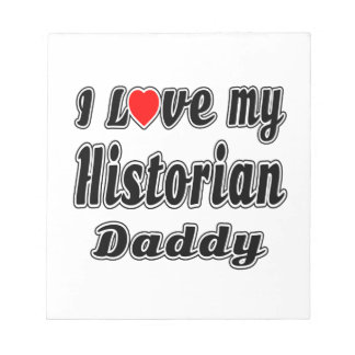 Amo a mi papá del historiador blocs de notas