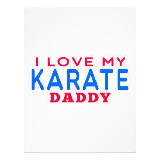 Amo a mi papá del karate plantilla de membrete