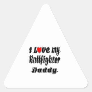 Amo a mi papá del torero calcomanías trianguloes