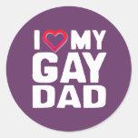 AMO A MI PAPÁ GAY ETIQUETA REDONDA