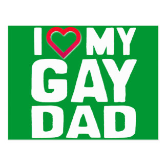 AMO A MI PAPÁ GAY POSTAL