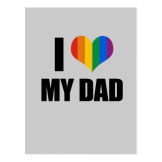 Amo a mi papá gay tarjeta postal