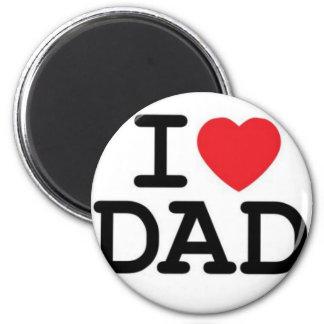¡Amo a mi papá! Imán Redondo 5 Cm