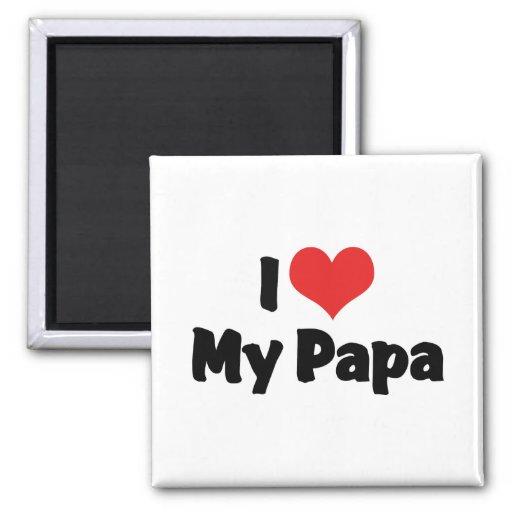 Amo a mi papá imán cuadrado