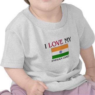 Amo a mi papá indio camiseta