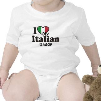 Amo a mi papá italiano traje de bebé