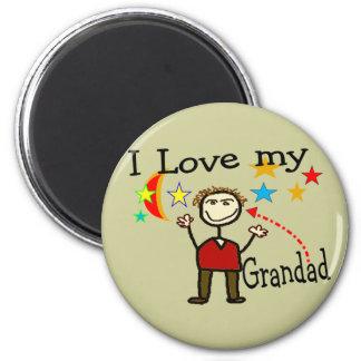 Amo a mi papá magnífico imán redondo 5 cm