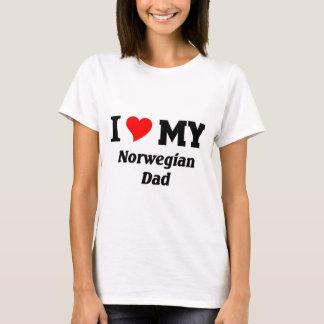 Amo a mi papá noruego playera