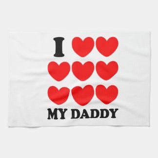 Amo a mi papá toallas de cocina
