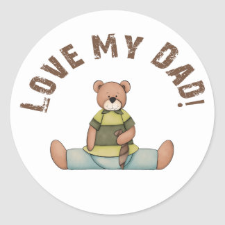 Amo a mi papá pegatina redonda