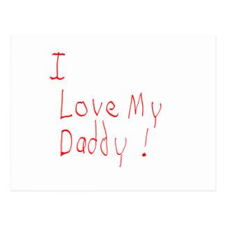 ¡Amo a mi papá! Postal