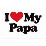 Amo a mi papá postal