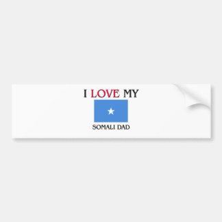 Amo a mi papá somalí etiqueta de parachoque