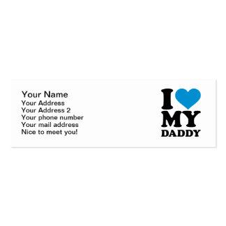 Amo a mi papá tarjeta de visita