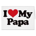 Amo a mi papá tarjetón