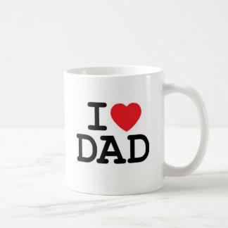 ¡Amo a mi papá! Taza Básica Blanca