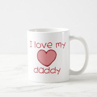 Amo a mi papá taza básica blanca