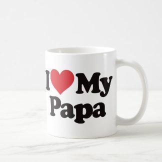Amo a mi papá taza clásica