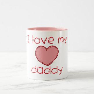 Amo a mi papá taza de dos tonos