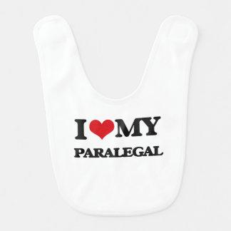 Amo a mi Paralegal Baberos Para Bebé