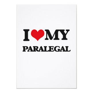 """Amo a mi Paralegal Invitación 5"""" X 7"""""""
