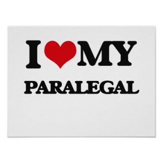 Amo a mi Paralegal Póster