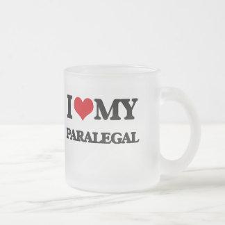 Amo a mi Paralegal Taza De Cristal